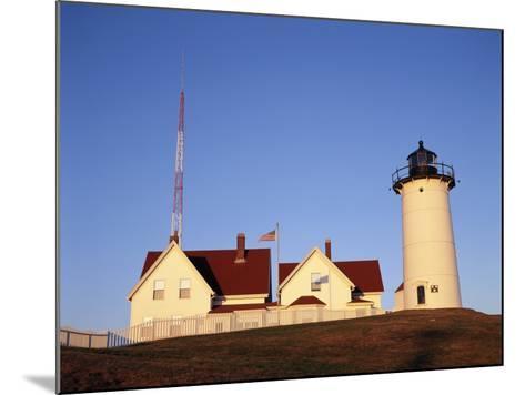 Nobska Lighthouse, Woods Hole, Cape Cod, Massachusetts, USA-Walter Bibikow-Mounted Photographic Print