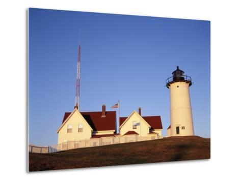 Nobska Lighthouse, Woods Hole, Cape Cod, Massachusetts, USA-Walter Bibikow-Metal Print