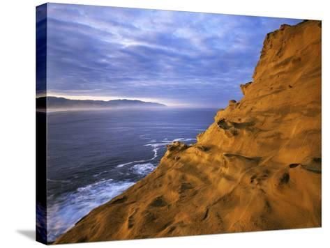Rock Formations, Cape Kiwanda State Natural Area, Oregon, USA-Charles Gurche-Stretched Canvas Print