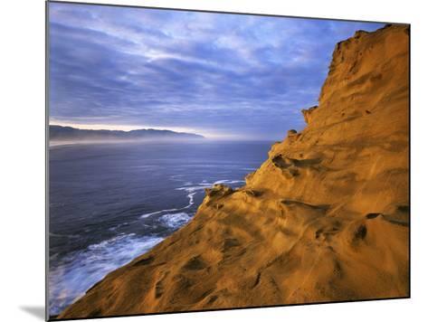 Rock Formations, Cape Kiwanda State Natural Area, Oregon, USA-Charles Gurche-Mounted Photographic Print