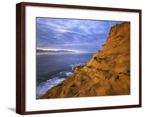 Rock Formations, Cape Kiwanda State Natural Area, Oregon, USA-Charles Gurche-Framed Art Print