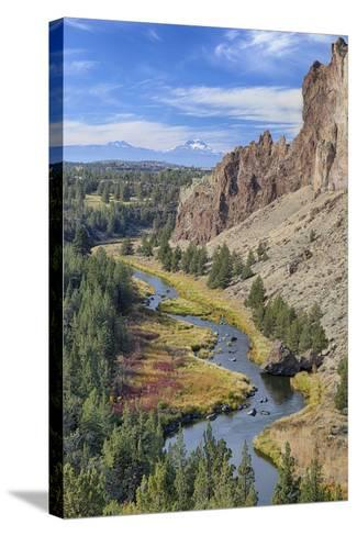 Crooked River, Smith Rock State Park, Oregon, USA-Jamie & Judy Wild-Stretched Canvas Print
