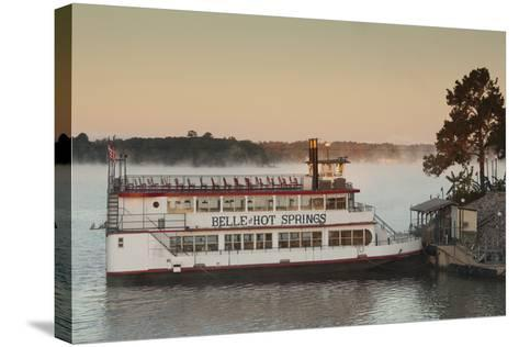 Belle of Hot Spring, Tour Boat at Dawn, Hot Springs, Arkansas, USA-Walter Bibikow-Stretched Canvas Print