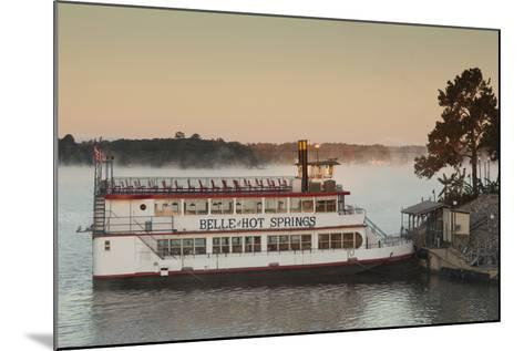 Belle of Hot Spring, Tour Boat at Dawn, Hot Springs, Arkansas, USA-Walter Bibikow-Mounted Photographic Print