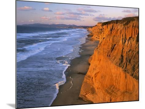 Cliffs at Pescadero State Beach, California, USA-Charles Gurche-Mounted Photographic Print