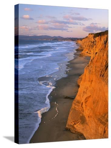 Cliffs at Pescadero State Beach, California, USA-Charles Gurche-Stretched Canvas Print