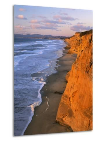 Cliffs at Pescadero State Beach, California, USA-Charles Gurche-Metal Print