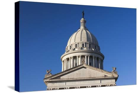 Oklahoma State Capitol Building, Oklahoma City, Oklahoma, USA-Walter Bibikow-Stretched Canvas Print