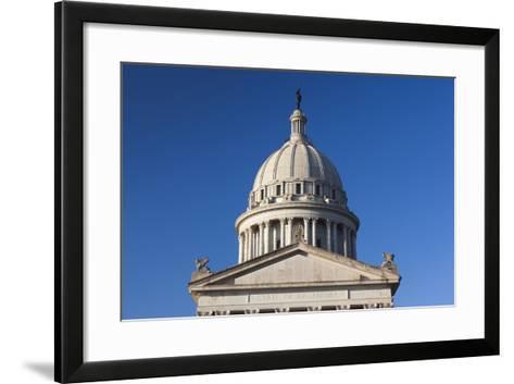 Oklahoma State Capitol Building, Oklahoma City, Oklahoma, USA-Walter Bibikow-Framed Art Print