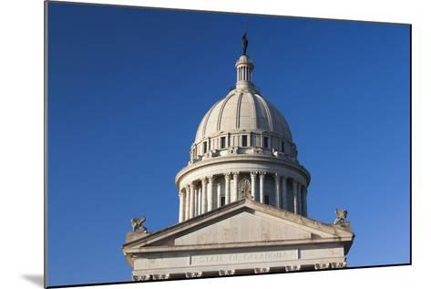Oklahoma State Capitol Building, Oklahoma City, Oklahoma, USA-Walter Bibikow-Mounted Photographic Print