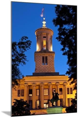 Tennessee State Capitol Building at Dusk, Nashville, Tennessee, USA-Brian Jannsen-Mounted Photographic Print