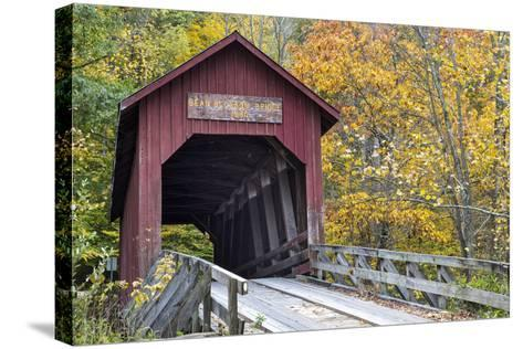 Bean Blossom Covered Bridge in Brown County, Indiana, USA-Chuck Haney-Stretched Canvas Print