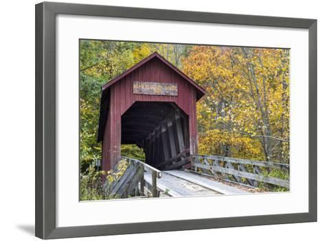 Bean Blossom Covered Bridge in Brown County, Indiana, USA-Chuck Haney-Framed Art Print