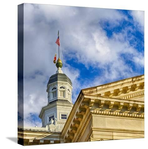 Sunset Light on the State Capitol Building, Annapolis, Maryland, USA-Christopher Reed-Stretched Canvas Print
