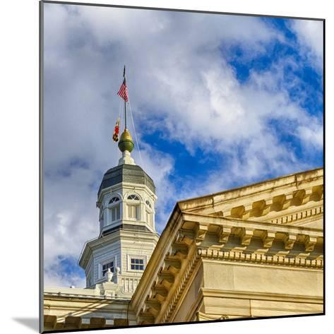 Sunset Light on the State Capitol Building, Annapolis, Maryland, USA-Christopher Reed-Mounted Photographic Print