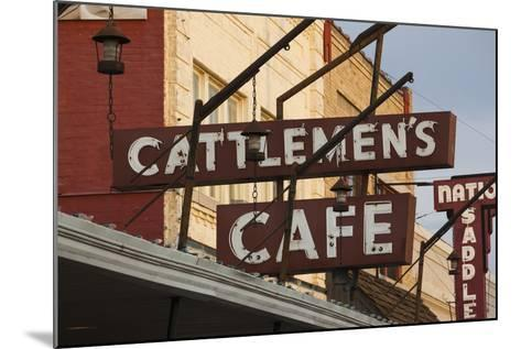 Cattlemen's Cafe Restaurant Sign, Oklahoma City, Oklahoma, USA-Walter Bibikow-Mounted Photographic Print