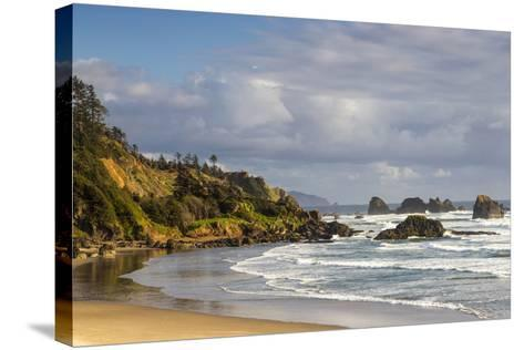 Indian Beach at Ecola State Park in Cannon Beach, Oregon, USA-Chuck Haney-Stretched Canvas Print