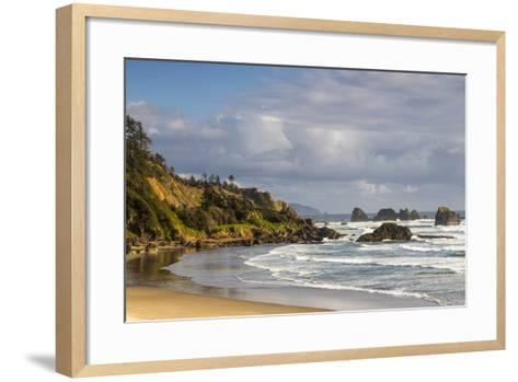 Indian Beach at Ecola State Park in Cannon Beach, Oregon, USA-Chuck Haney-Framed Art Print