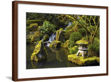 Portland Japanese Garden in Spring, Portland, Oregon, USA-Michel Hersen-Framed Art Print