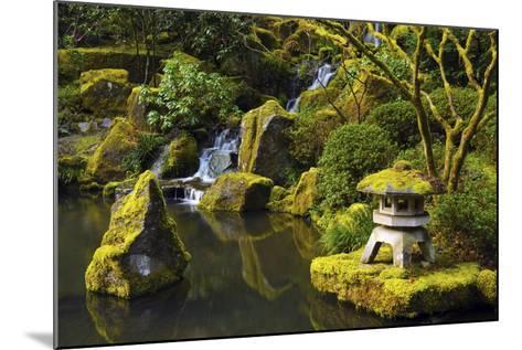 Portland Japanese Garden in Spring, Portland, Oregon, USA-Michel Hersen-Mounted Photographic Print