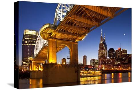 General Jackson Stern Wheel Show Boat, Nashville, Tennessee, USA-Brian Jannsen-Stretched Canvas Print