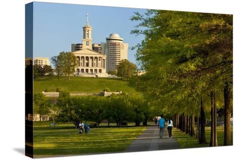 Enjoying Bicentennial Park, Nashville, Tennessee, USA-Brian Jannsen-Stretched Canvas Print