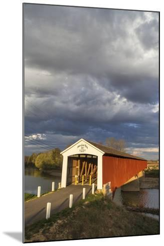 The Medora Covered Bridge, Indiana, USA-Chuck Haney-Mounted Photographic Print