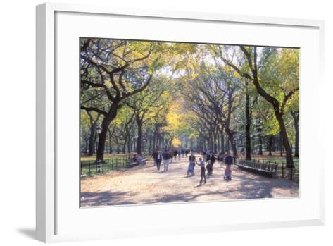 The Mall, Central Park, Manhattan, New York, USA-Peter Bennett-Framed Art Print