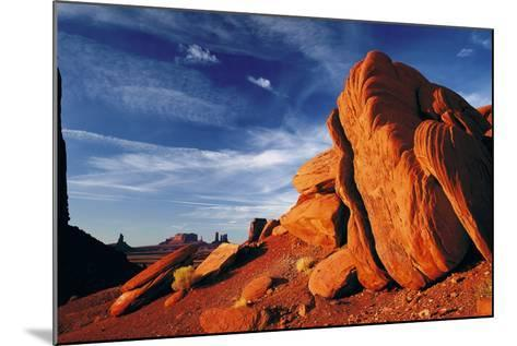 Rock Formations of Monument Valley, Navajo Nation, USA-Jerry Ginsberg-Mounted Photographic Print