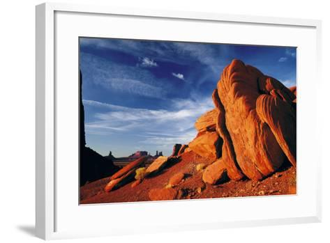 Rock Formations of Monument Valley, Navajo Nation, USA-Jerry Ginsberg-Framed Art Print