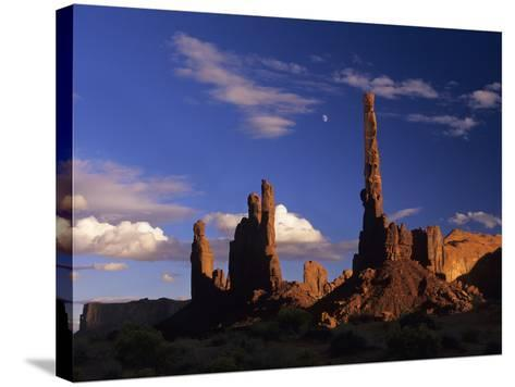 Rock Formations of Monument Valley, Navajo Nation Usa-Jerry Ginsberg-Stretched Canvas Print
