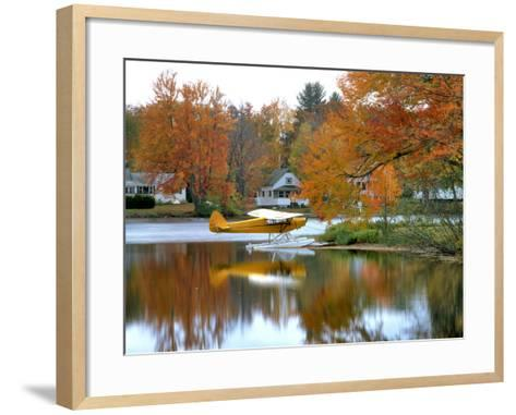 Float Plane Reflects on Highland Lake, New England, New Hampshire, USA-Jaynes Gallery-Framed Art Print