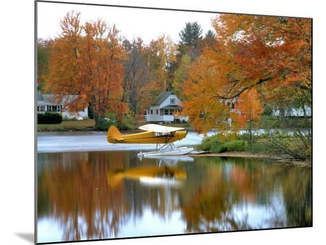 Float Plane Reflects on Highland Lake, New England, New Hampshire, USA-Jaynes Gallery-Mounted Photographic Print