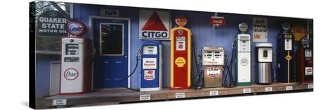 Littleton Historic Gas Station, New Hampshire, USA-Walter Bibikow-Stretched Canvas Print