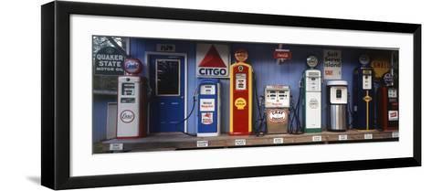 Littleton Historic Gas Station, New Hampshire, USA-Walter Bibikow-Framed Art Print