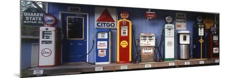 Littleton Historic Gas Station, New Hampshire, USA-Walter Bibikow-Mounted Photographic Print