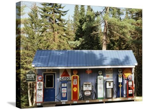 Littleton Historic Gas Station, New Hampshire, USA-Walter Bibikow-Stretched Canvas Print