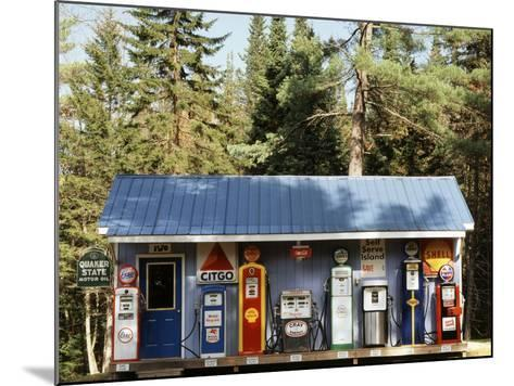 Littleton Historic Gas Station, New Hampshire, USA-Walter Bibikow-Mounted Photographic Print