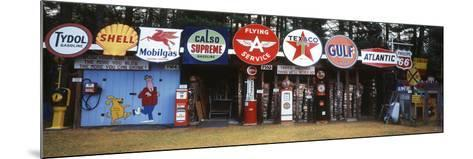 Littleton Historic Gas Tanks and Signs, New Hampshire, USA-Walter Bibikow-Mounted Photographic Print