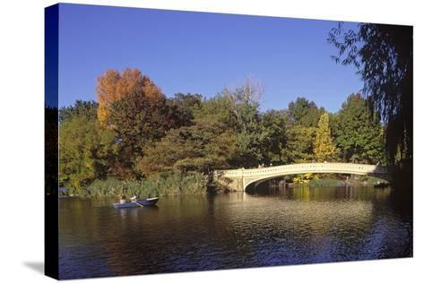 The Lake, Central Park, Manhattan, New York, USA-Peter Bennett-Stretched Canvas Print