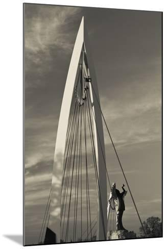 Keeper of the Plains Footbridge, Arkansas River, Wichita, Kansas, USA-Walter Bibikow-Mounted Photographic Print