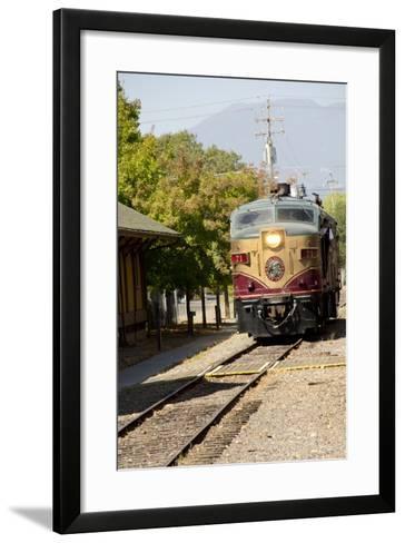 Napa Valley Wine Train in Train Station, California, USA-Cindy Miller Hopkins-Framed Art Print