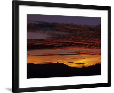 Brilliant Desert Sunset, New Mexico, USA-Jerry Ginsberg-Framed Art Print