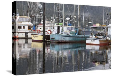 Fishing Boats Moored in Harbor, Petersburg, Alaska, USA-Jaynes Gallery-Stretched Canvas Print