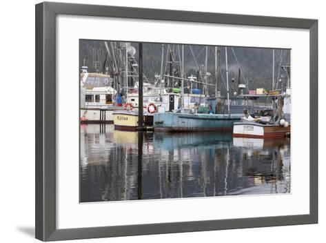 Fishing Boats Moored in Harbor, Petersburg, Alaska, USA-Jaynes Gallery-Framed Art Print