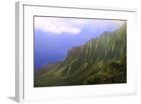 Landscape of the Na Pali Coast Kauai, Hawaii, USA-Jaynes Gallery-Framed Art Print