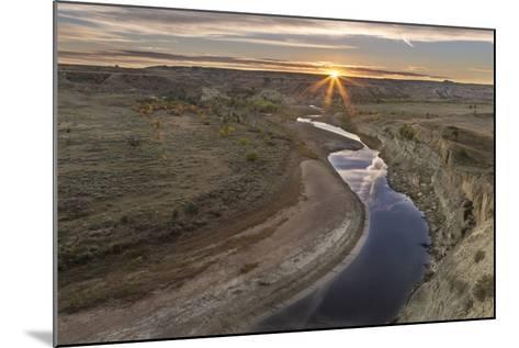 Sunset over the Little Missouri River, North Dakota, USA-Chuck Haney-Mounted Photographic Print
