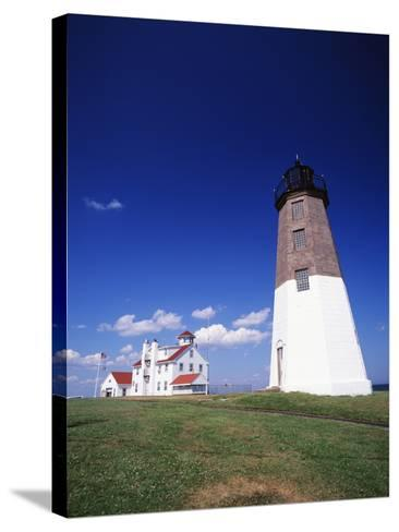 Point Judith Lighthouse, Rhode Island, USA-Walter Bibikow-Stretched Canvas Print
