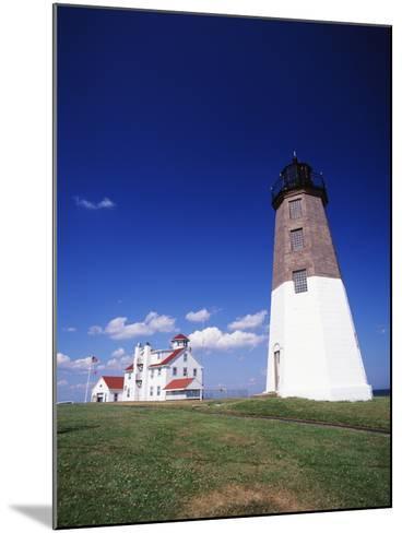 Point Judith Lighthouse, Rhode Island, USA-Walter Bibikow-Mounted Photographic Print