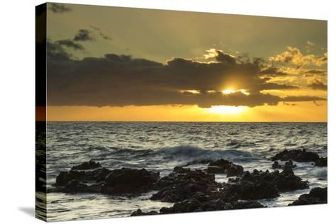 Scenic of Ocean Sunset, Kihe, Maui, Hawaii, USA-Jaynes Gallery-Stretched Canvas Print